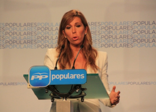 The leader of the PP's Catalan branch, Alícia Sánchez-Camacho, this Tuesday in Madrid (by R. Pi de Cabanyes)