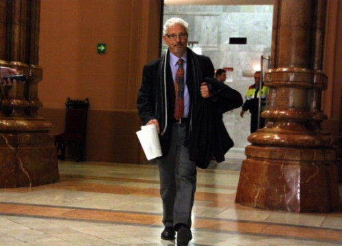 Judge Santiago Vidal on Thursday, minutes after the CGPJ's decision (by P. Solà)