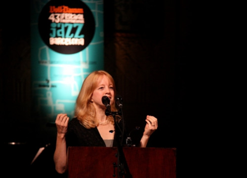 Maria Schneider was offered the festival's gold medal (by P. Cortina)