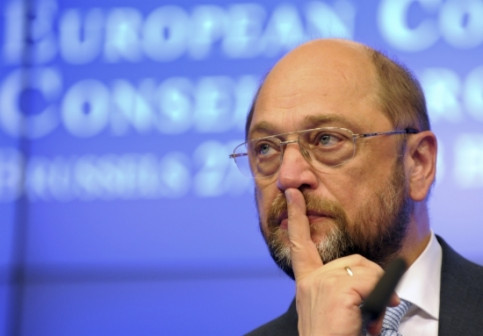 The President of the European Parliament, Martin Schulz (by Reuters)