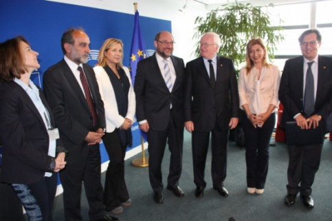 The President of the European Parliament, Martin Schulz, meeting with Mediterranean regional governments (by A. Segura)
