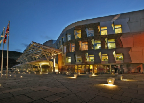 The Scottish Parliament's building in Edinburgh (by Scottish Parliament)