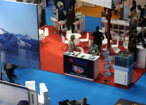 A Canadian stand at the 2013 Barcelona's Seafood fair (by E. Romagosa)