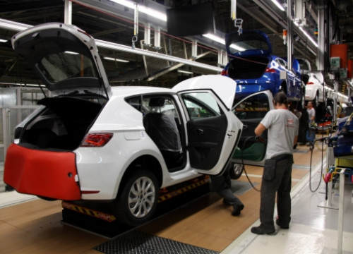 The Seat León's production line in Martorell (by ACN)