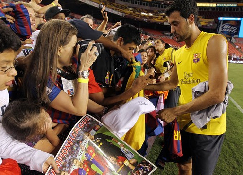 Sergio Busquets during Barça's last USA tour (by FC Barcelona)