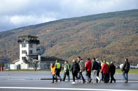 A security test taking place at the Andorra - la Seu d'Urgell Airport two months before its opening (by ACN)