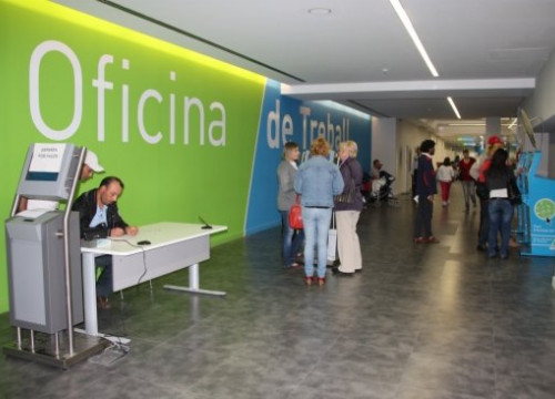 A branch of the Catalan Public Employment Service in Lleida, where unemployment decreased the most in percentage terms (by ACN)