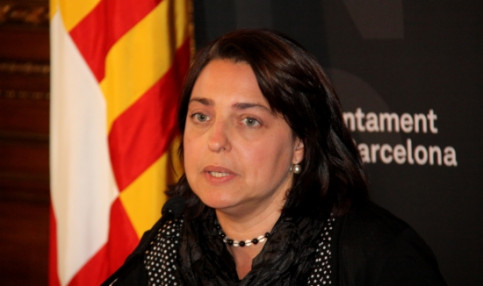 Barcelona's Deputy Mayor for Economy, Business and Employment, Sònia Recasens, presenting the 2013 budget execution figures (by M. Visa)