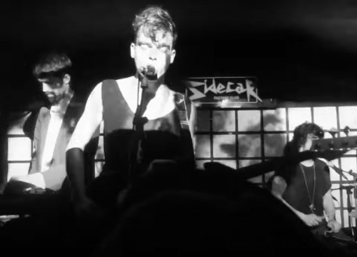 Screenshot from a live performance by Stand Up Against Heart Crime in Barcelona's sidecar club, available on Youtube