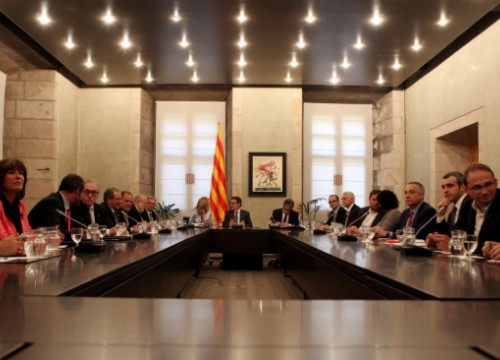 The summit took place at the Generalitat Palace, the Catalan Presidency's seat (by O. Campuzano)