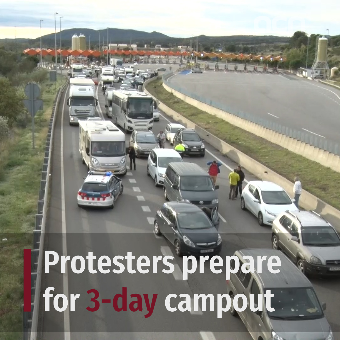 Protesters prepare for 3-day campout