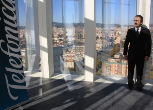 Telefónica's Director in Catalonia, Kim Faura, at the company's new headquarters in the Catalan capital (by N. Julià)