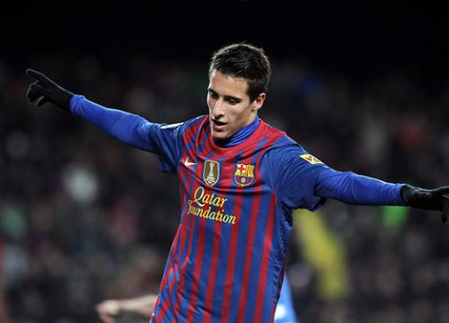 Tello scored Barça's first goal against Real Sociedad (by FC Barcelona)