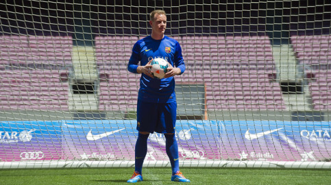 Marc-André Ter Stegen on Camp Nou's turf for the first time (by FC Barcelona)