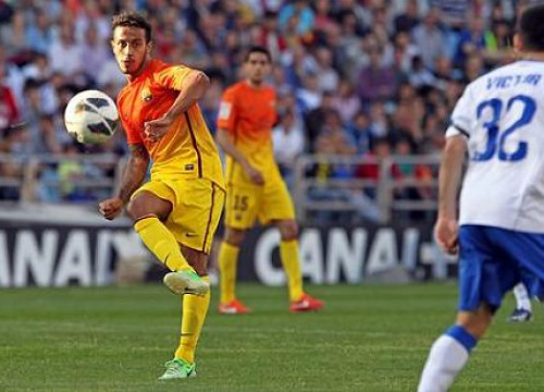 Thiago was one of the main Barça players against Zaragoza (by FC Barcelona)