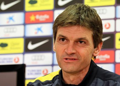 Tito Vilanova at this Tuesday's press conference before the Spanish Cup game with Málaga (by FC Barcelona)