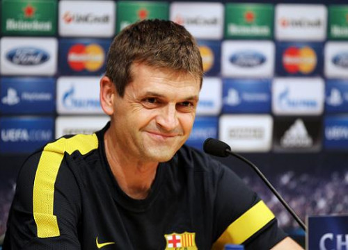 Tito Vilanova at the press conference before the Barça vs Spartak Moscow's game (by FC Barcelona)