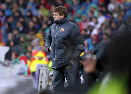 Tito Vilanova in a match against Real Madrid (by FC Barcelona)