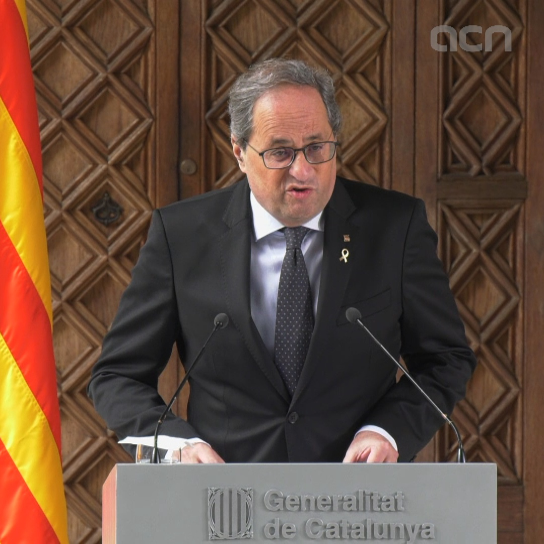 President Torra announces elections once budget is passed