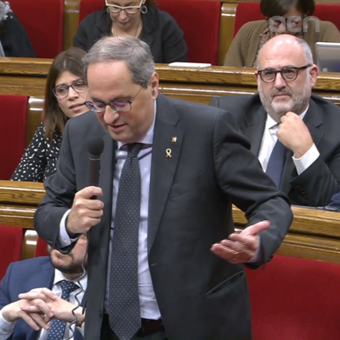 Torra says protesters will express themselves 'freely and calmly' at Camp Nou protest