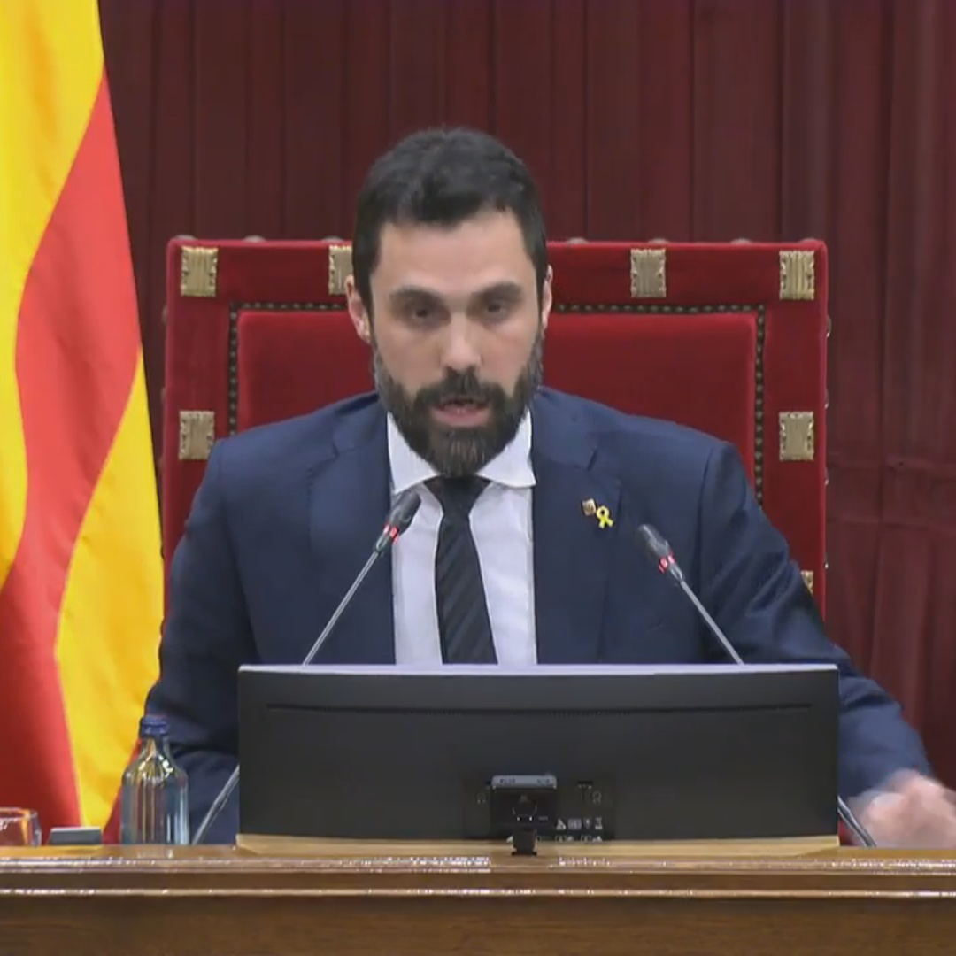 Parliament speaker Roger Torrent says he cannot count President Torra's vote