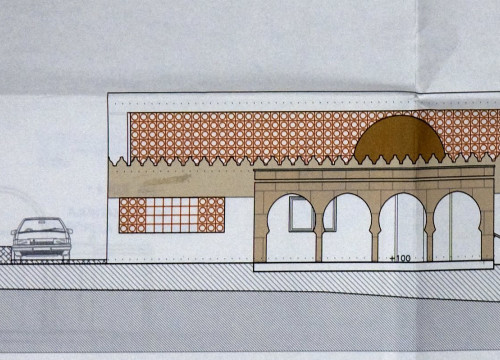 An image of how the Torroella de Montgrí's new mosque would have looked like (by ACN)