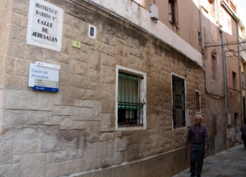 Jerusalem Street in Tortosa (by A. Mayor)