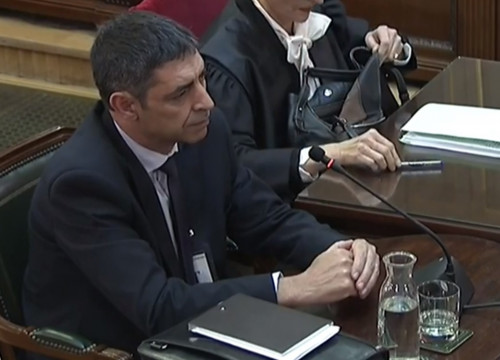 Former Catalan police chief Josep Lluís Trapero in Spain's Supreme Court (by ACN)