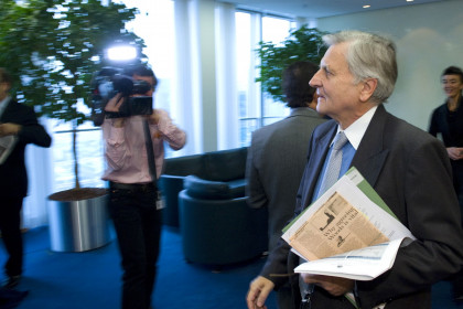Jean-Claud Trichet, Governor of the European Central Bank before entering a meeting at the bank's headquarters (by ECB)