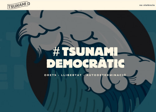 Screenshot of one of Tsunami Democràtic's websites