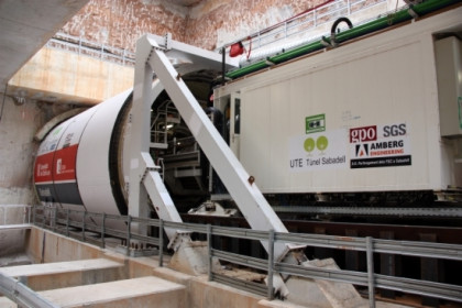 The tunnel boring machine today in Sabadell (by ACN)