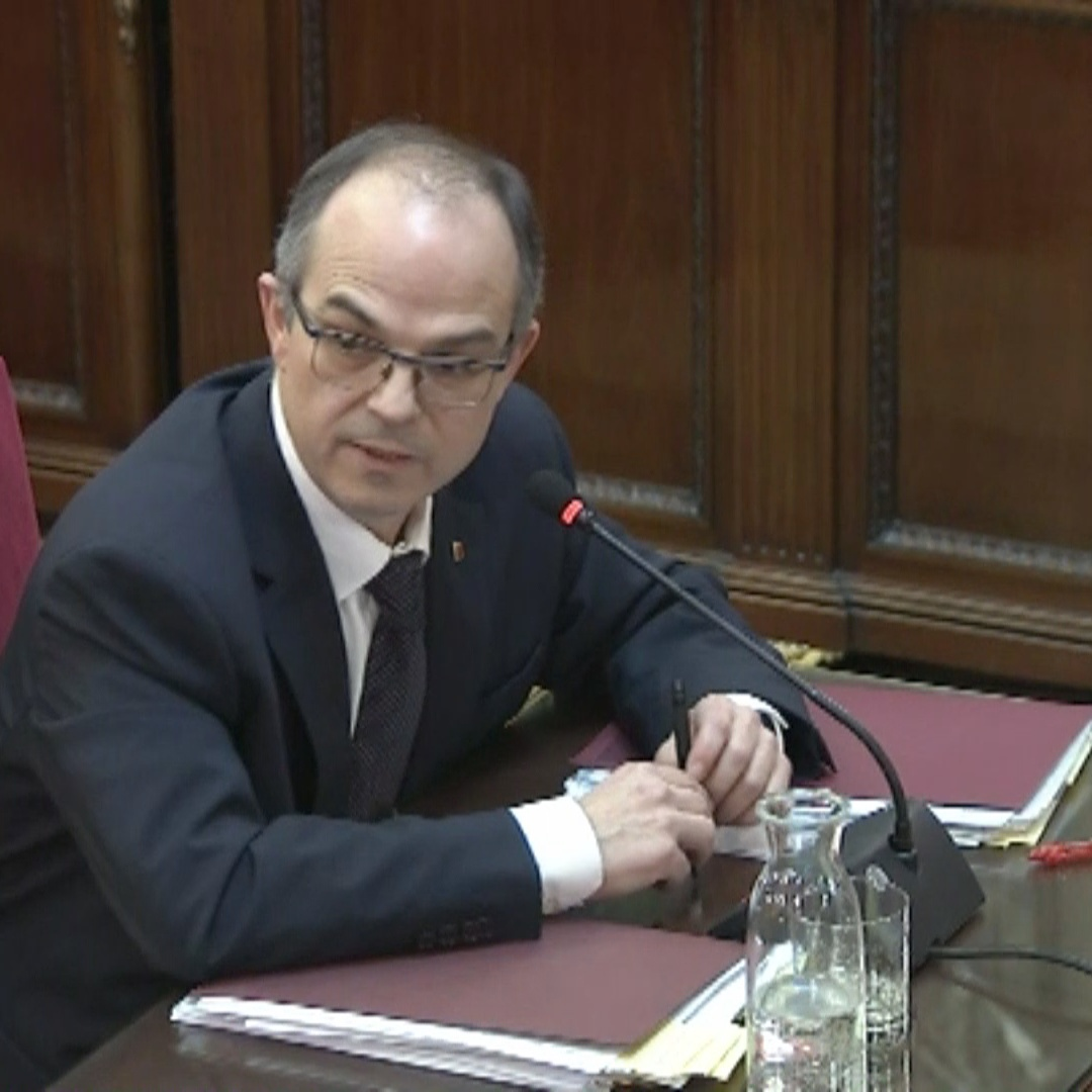 "Presenting Catalans as violent is ""insane,"" says Jordi Turull in court"
