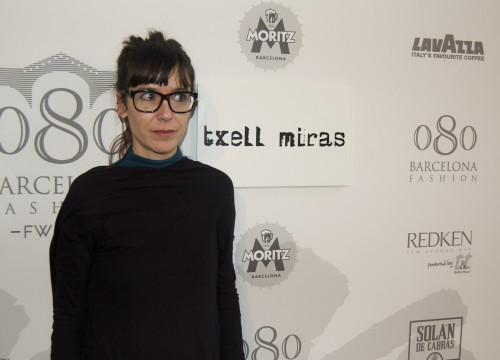 Txell Miras at the 080 Barcelona Fashion Week's photocall (by A. Sánchez Aragón)