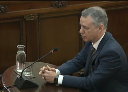 Íñigo Urkullu testifying in the Catalan trial on February 28, 2019
