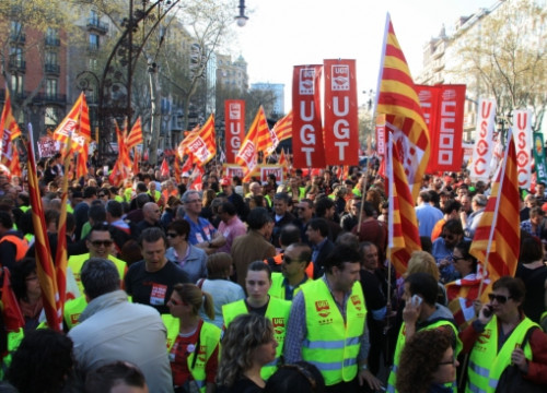 The main demonstration in Barcelona's city centre (by M. Fernández Noguera)