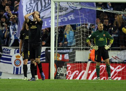 The woodwork took two points away from Barça against Espanyol (by FC Barcelona)
