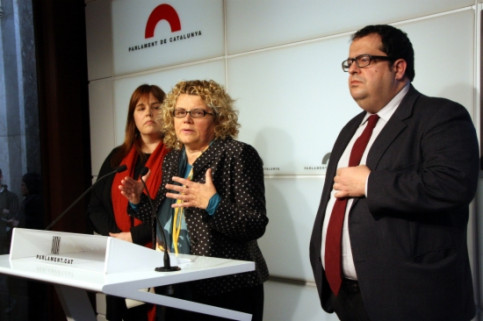 From left to right: Núria Ventura, Marina Geli and Joan Ignasi Elena (by P. Francesch)