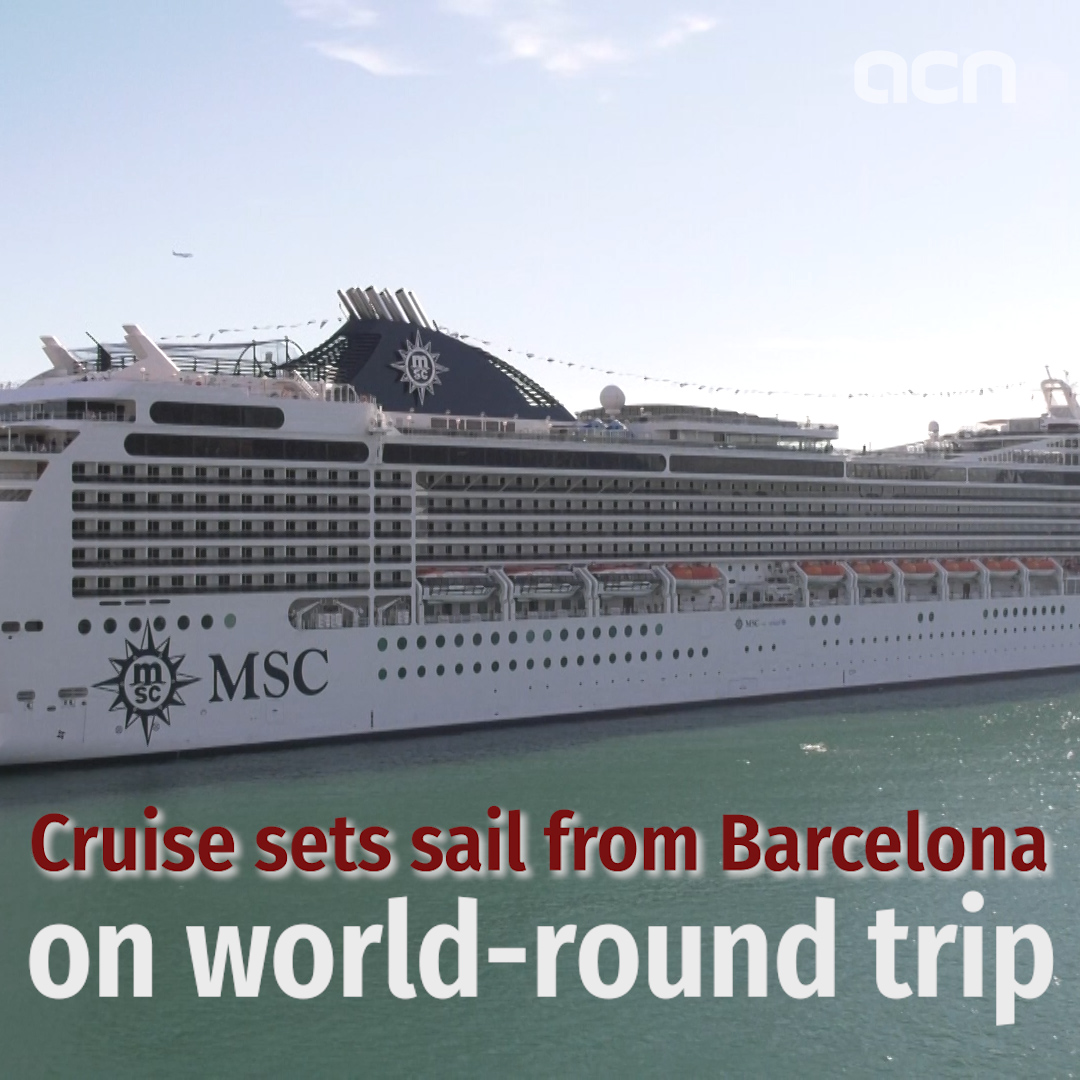 Cruise sets sail from Barcelona on world-wide trip
