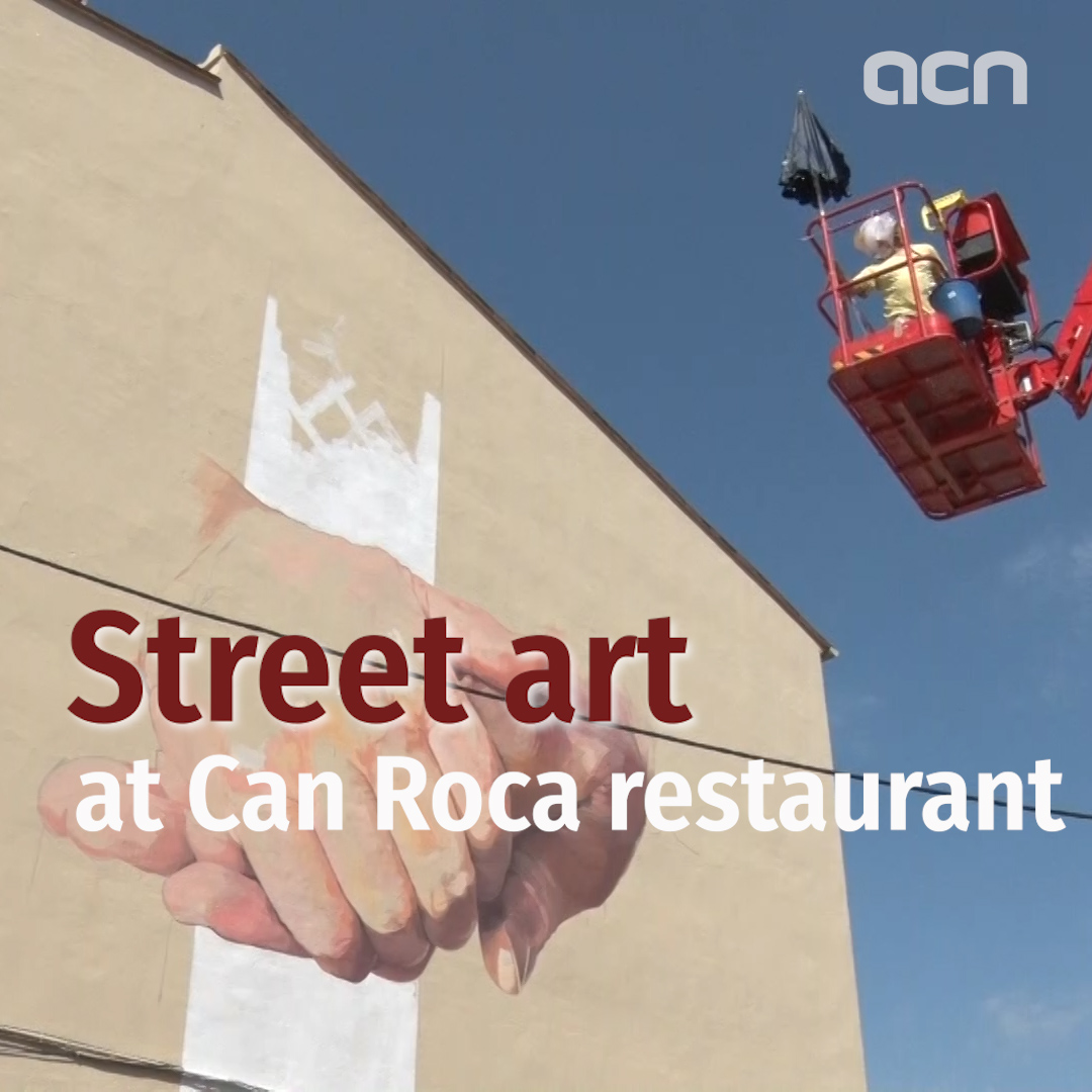 Catalonia's Girona restaurant doubles as street art mural