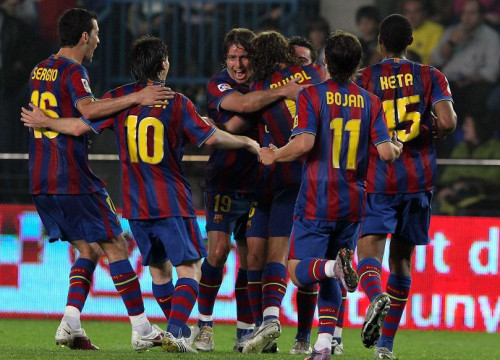A caption from Barça's last game against Vilareal (by FC Barcelona)