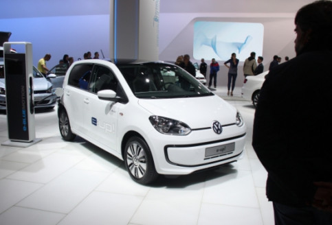 The Volkswagen E-Up, which was presented at the last Barcelona car show (by G. Sánchez)