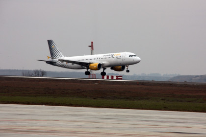 An airplane from Vueling