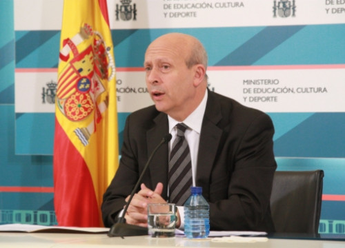 The Spanish Minister for Education, José Ignacio Wert (by ACN)