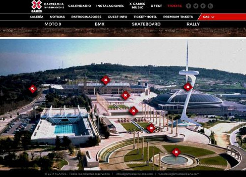 The X Games Barcelona website (by X Games / ACN)