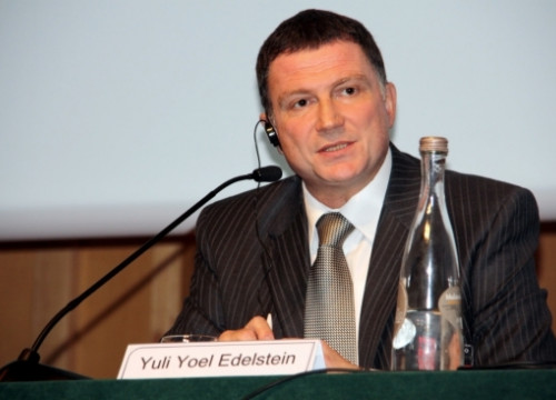 The Israeli Minister for Public Diplomacy and Diaspora, Yuli Yoel Edelstein (by ACN)