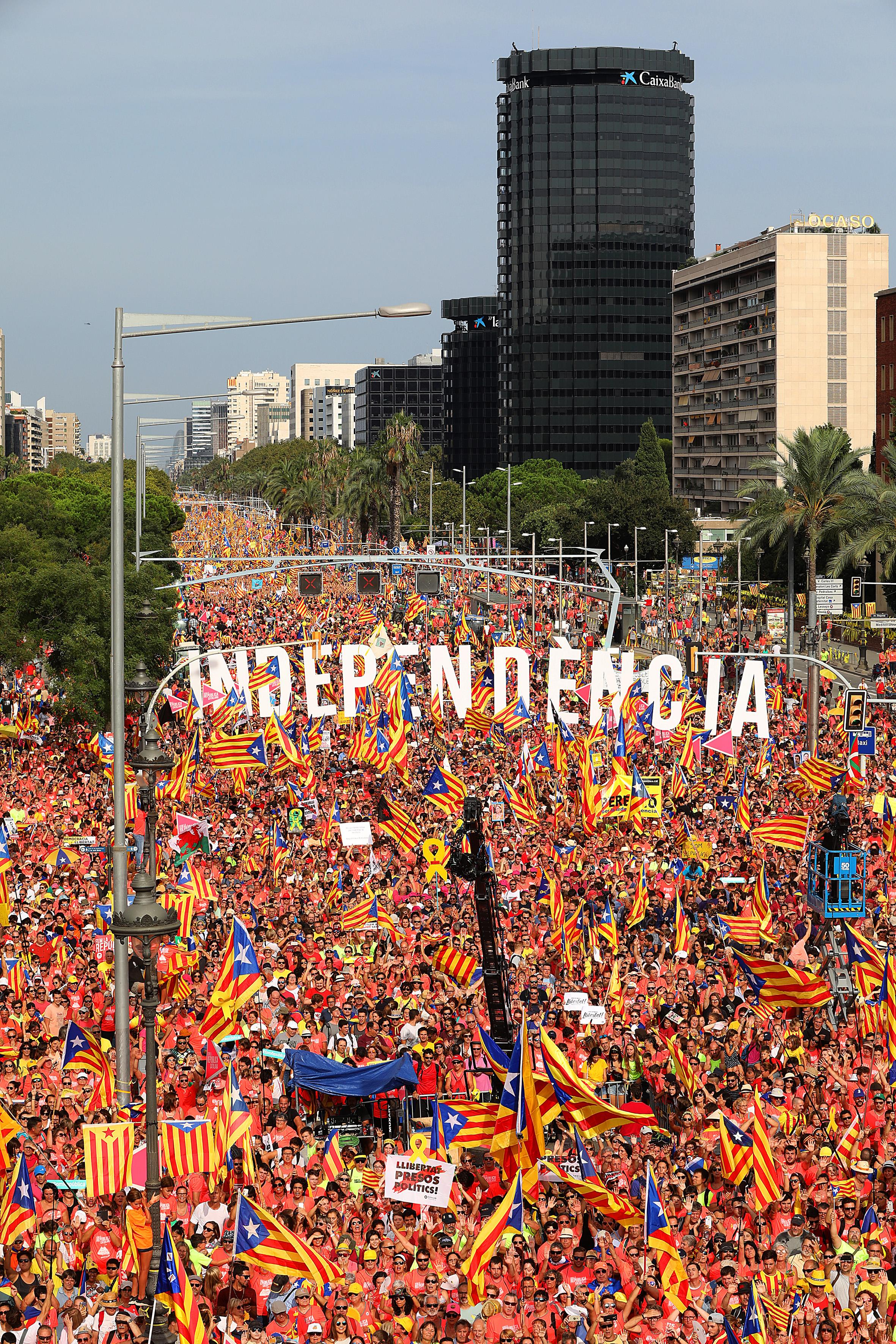 Pro-independence rally in Barcelona on Catalonia's National Day (by Jordi Play)