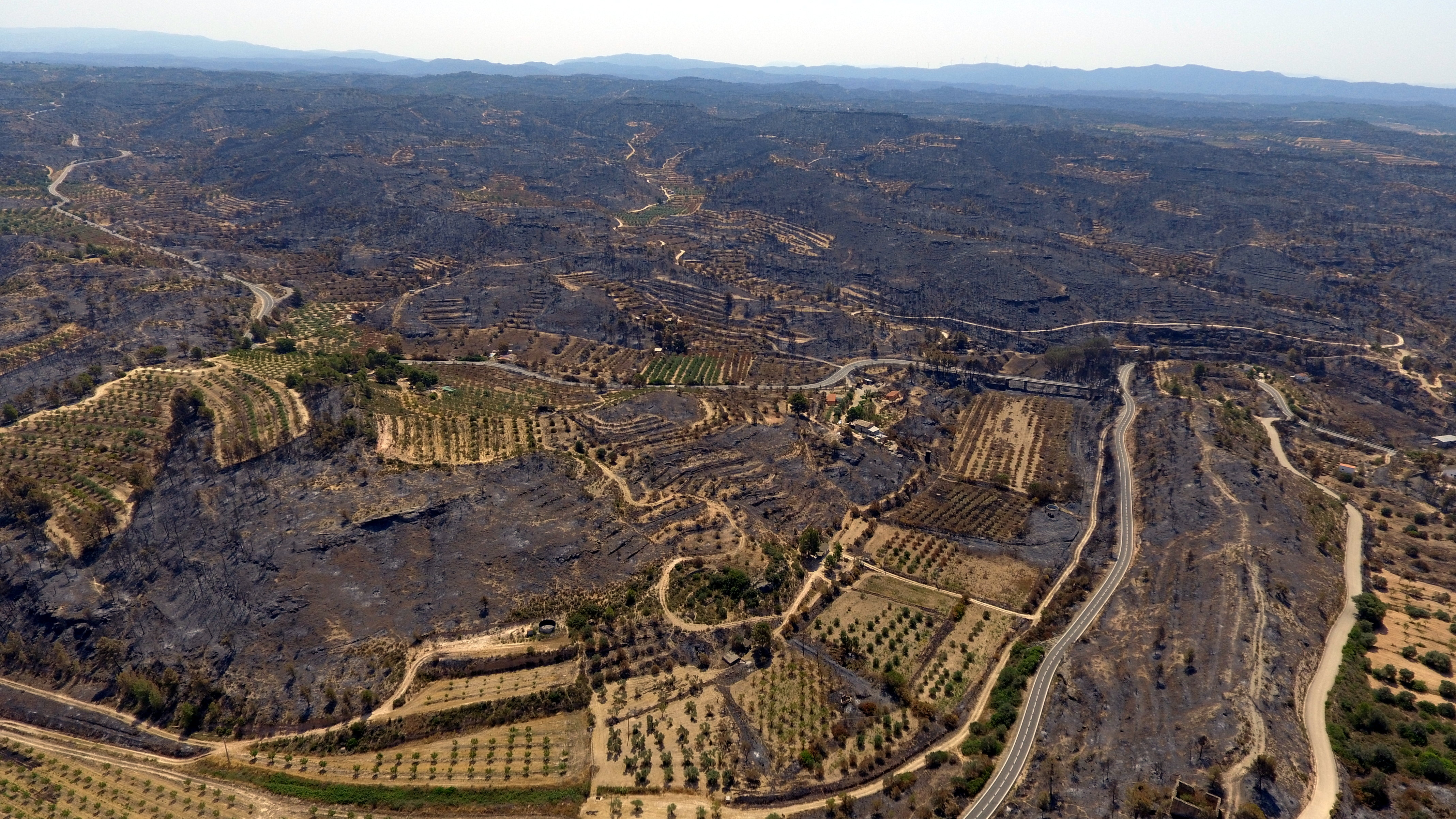 A wildfire in western Catalonia burns down over 5,000 hectares (by ACN)