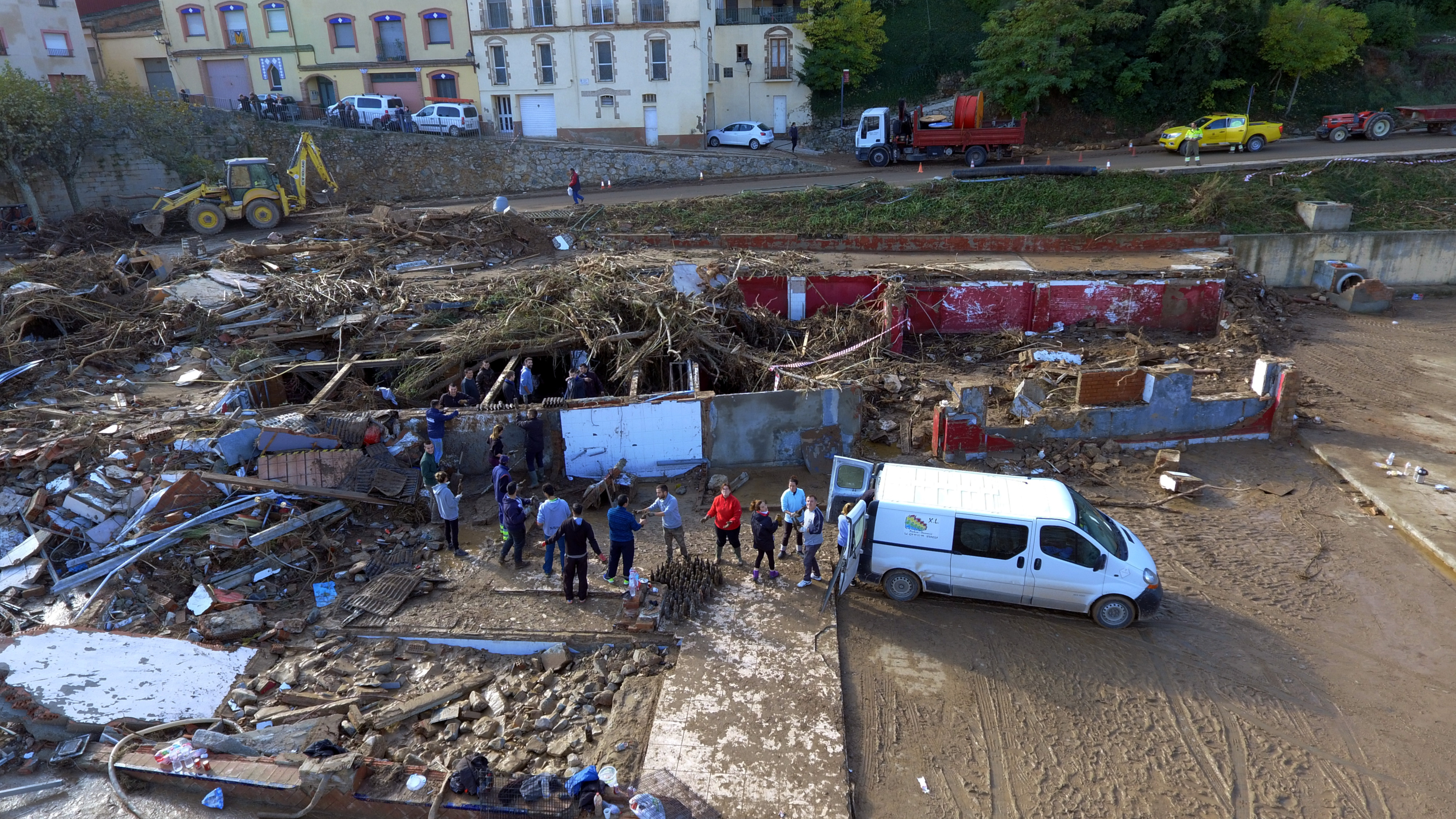 Flash floods caure major damage in western Catalonia (by ACN)