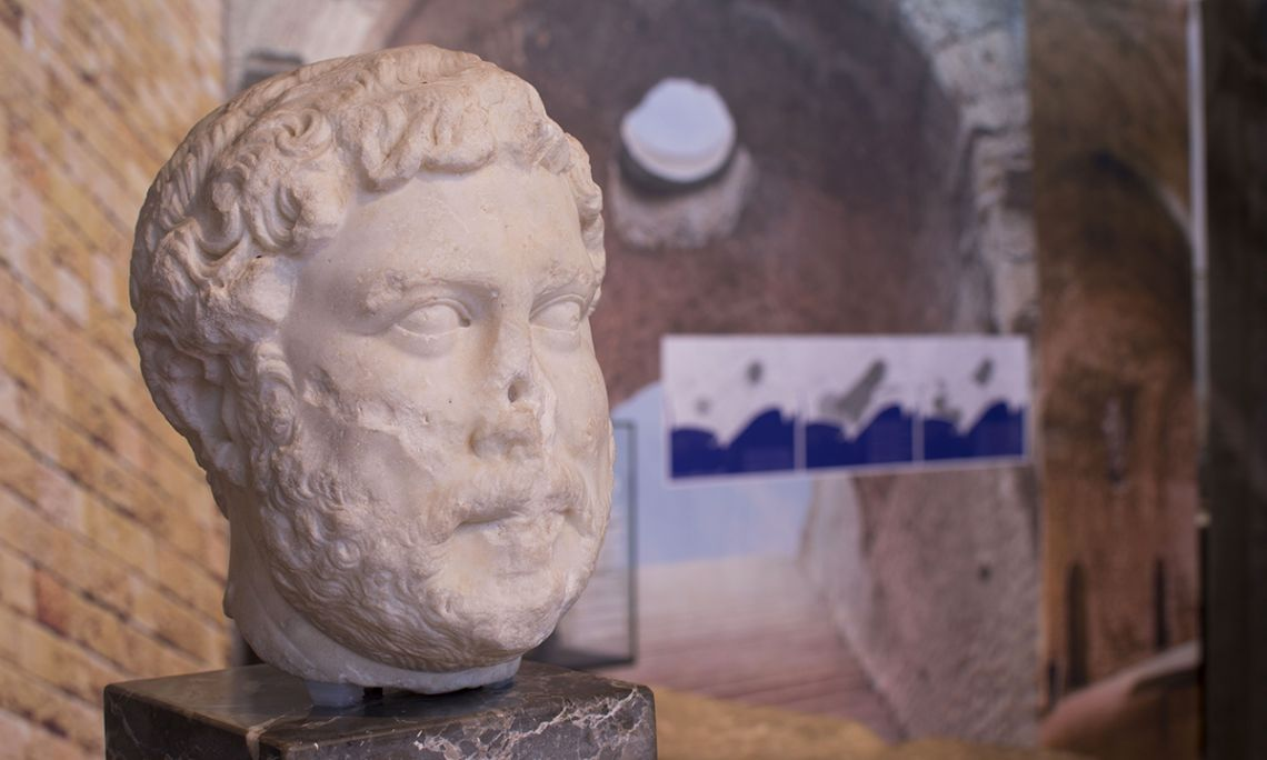Portrait of Roman emperor Hadrian, included in the collection of the National Archeological Museum of Tarragona