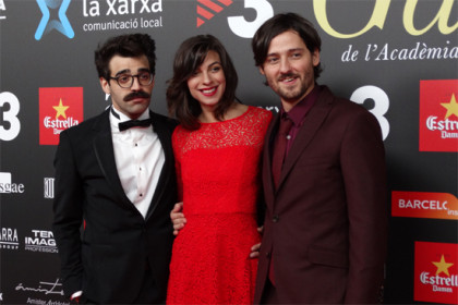Best Actor David Verdaguer, Best Actress Natalia Tena and Best Director Carlos Marques-Marcet, all of them from '10,000km' (by A. Martínez and C.C. Salellas)